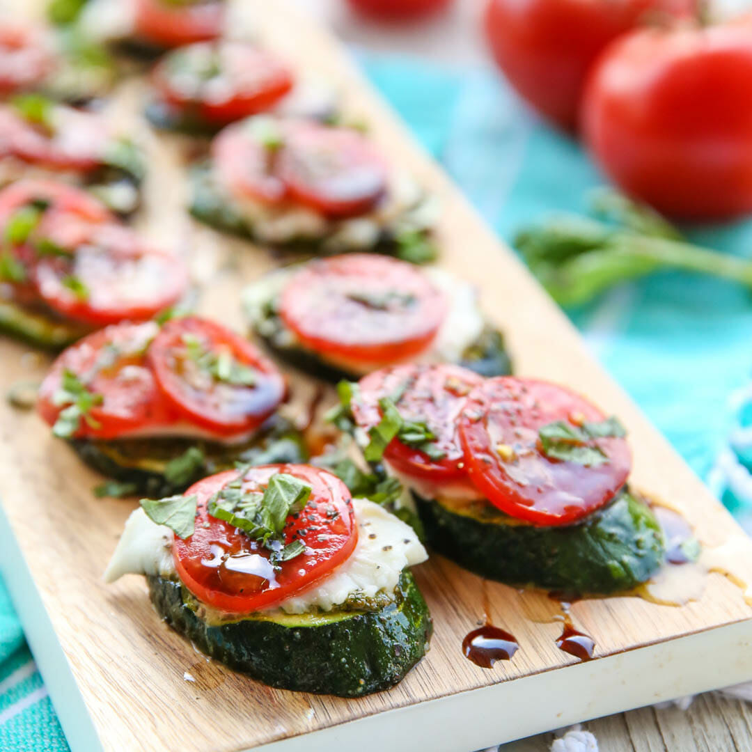 Healthy Grilled Caprese Zucchini