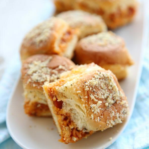 Pizza Roll Sheet-pan Sandwiches