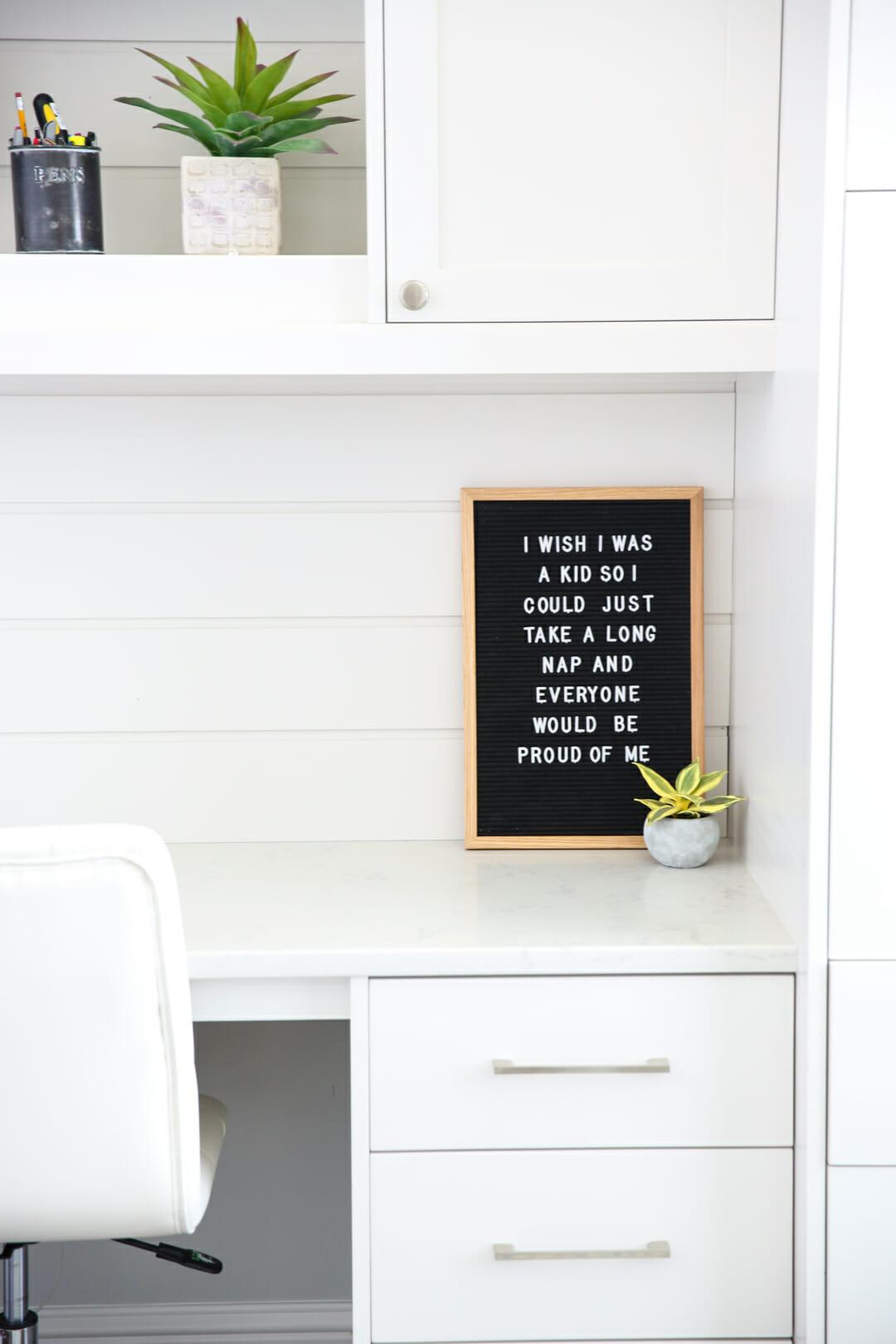 retro letterboard quote