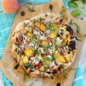Peach-Prosciutto Pizza