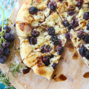 Roasted Grape & Brie Pizza