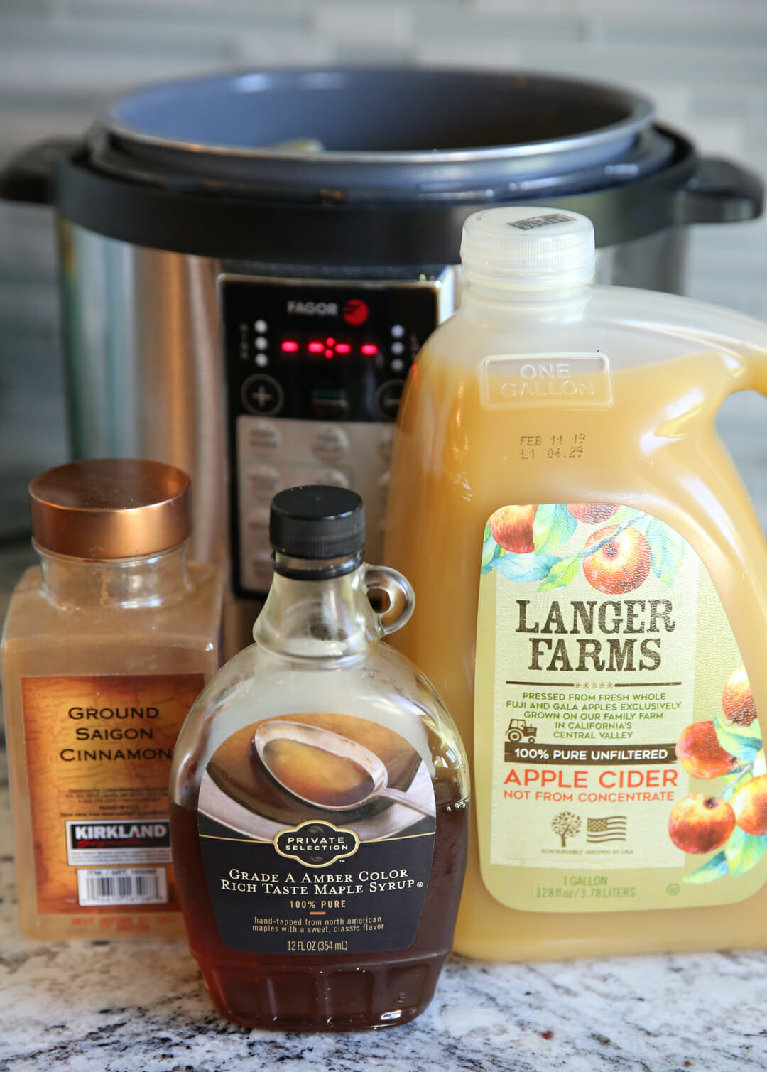 ingredients for pressure cooker apple sauce