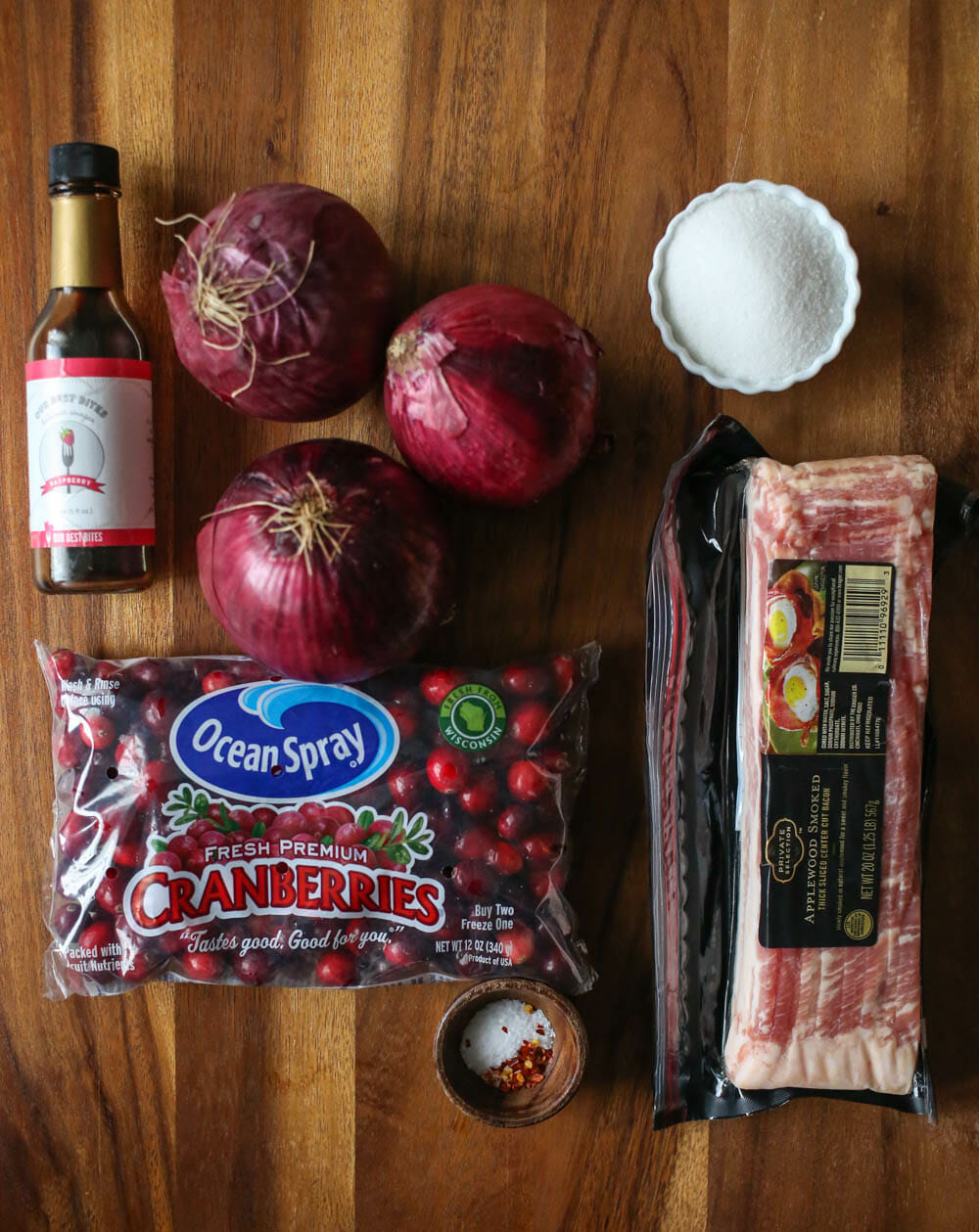 Cranberry-Bacon Onion Jam Ingredients