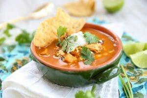 Easy Pressure-Cooker Tortilla Soup