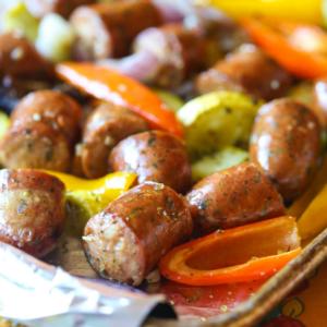 Italian sausage sheet pan dinner