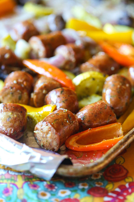 Italian Sausage Sheet Pan Dinner Our Best Bites
