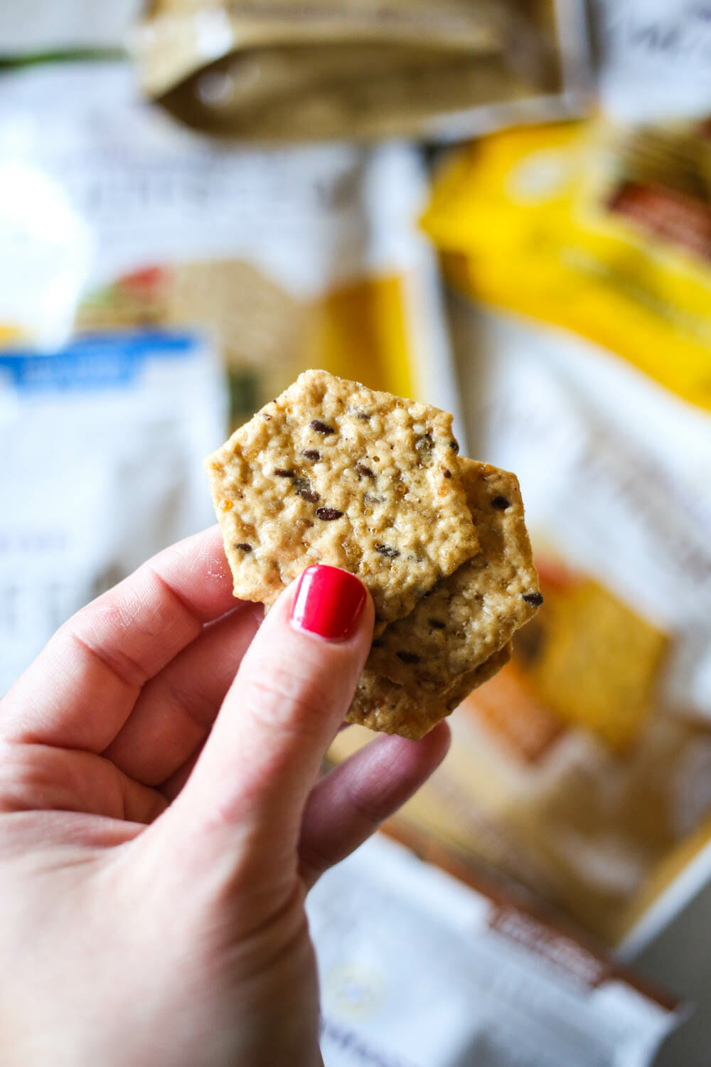 close up of Crunchmasters Cracker
