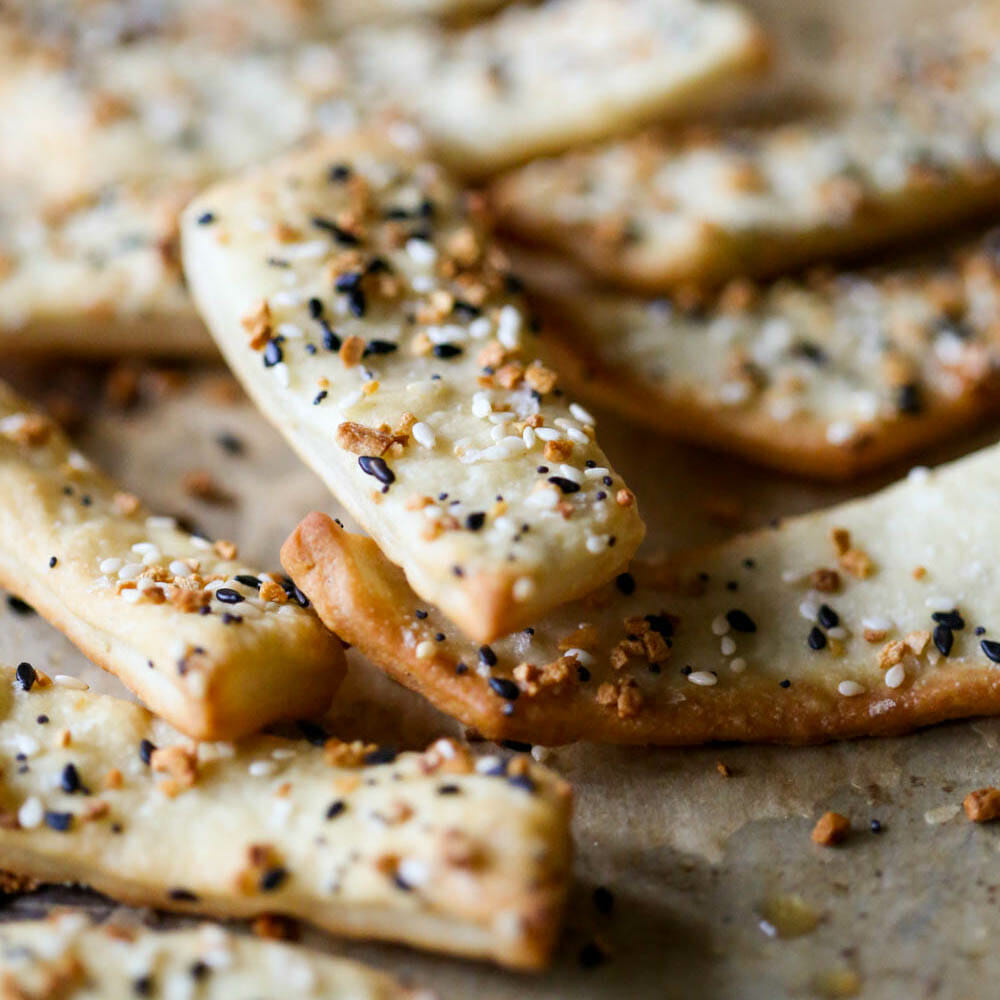 Crunchy Pizza Dough Crouton Strips