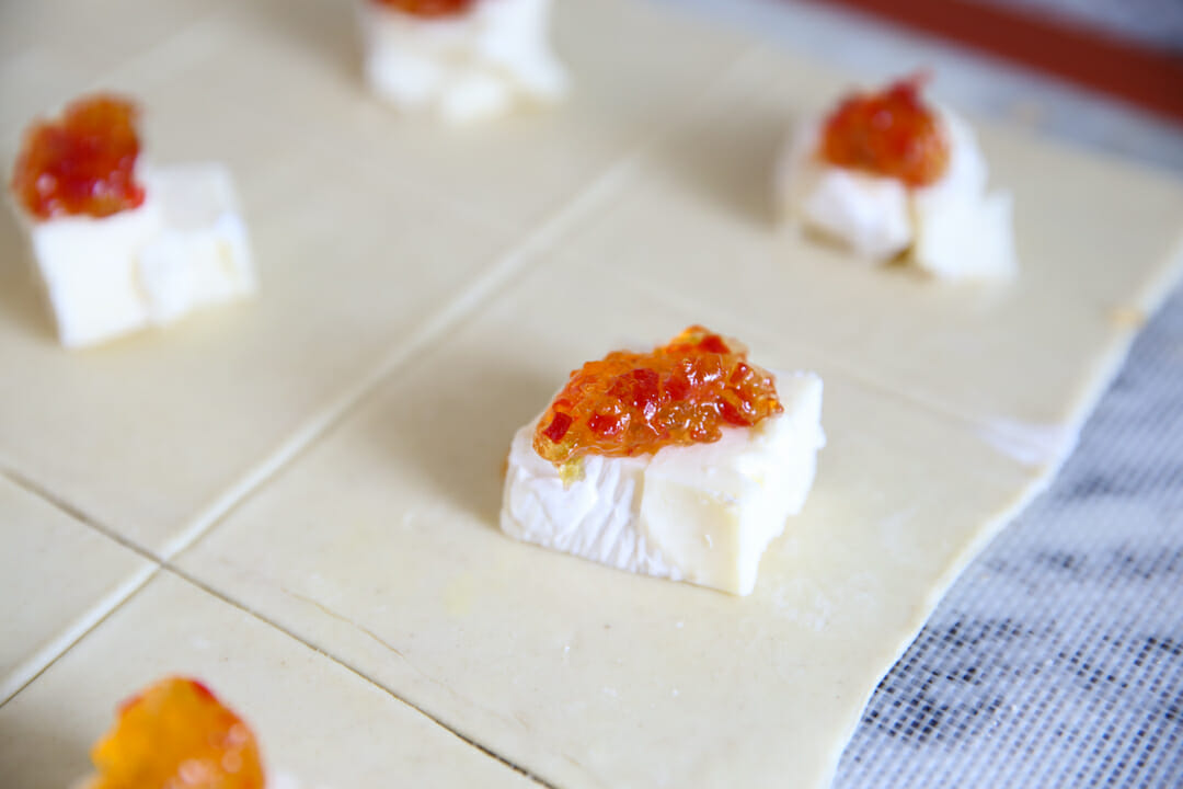 Pepper Jelly on Brie