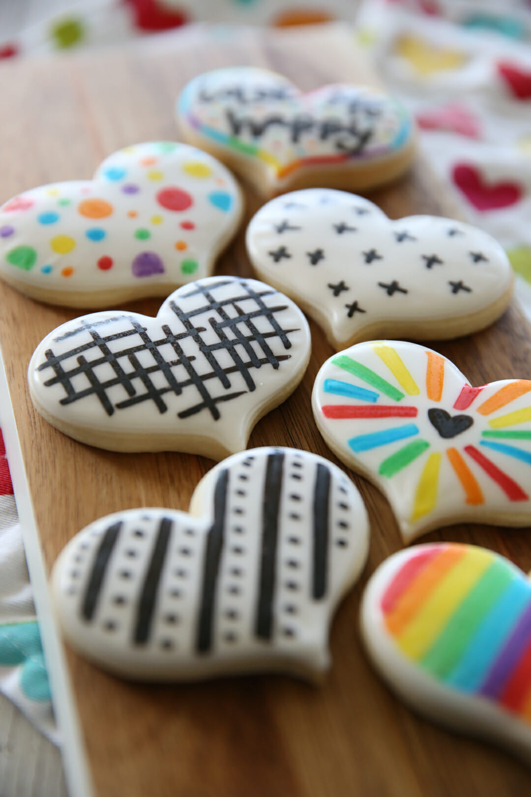 black and white sugar cookies