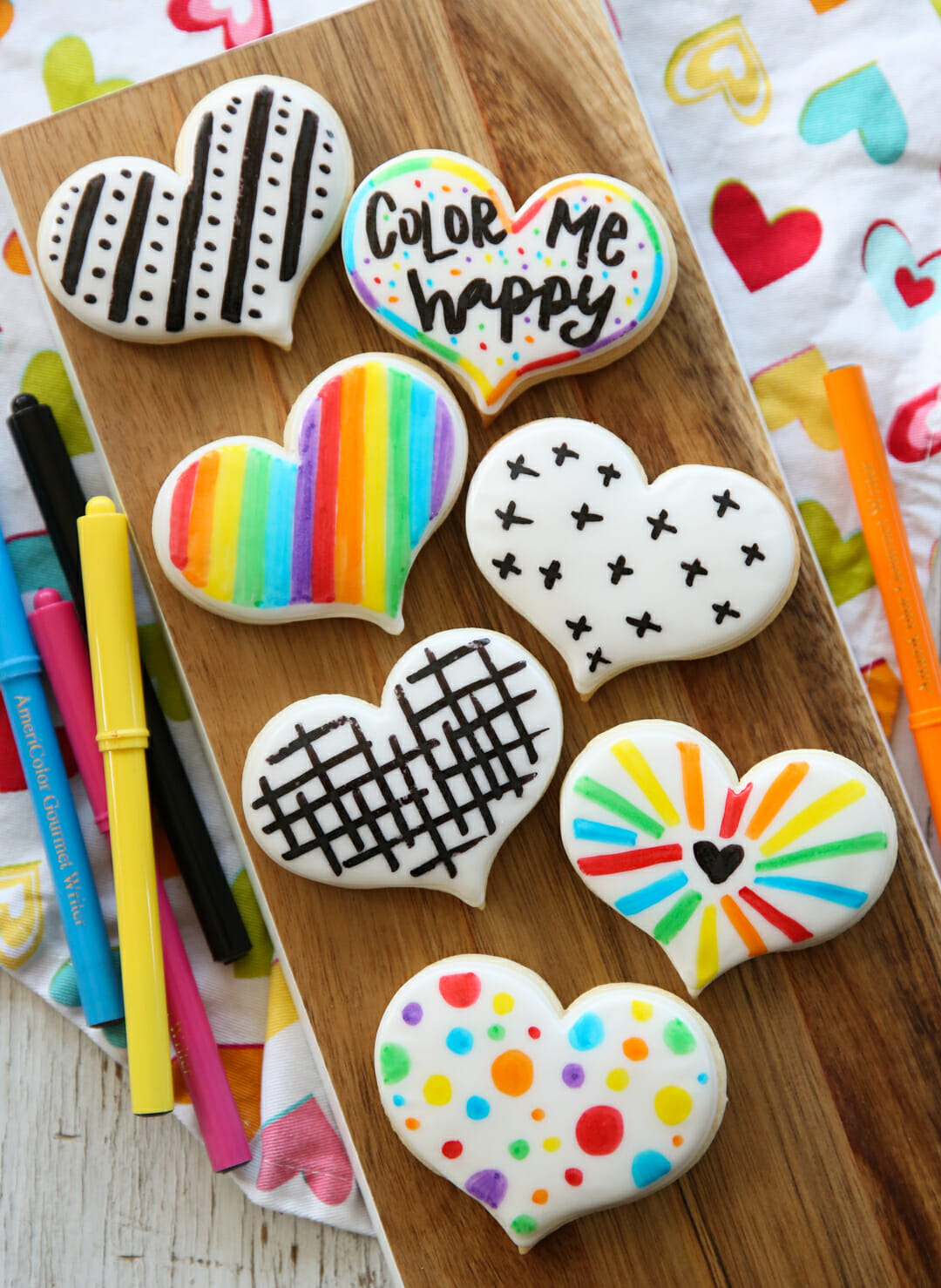 modern colorful sugar cookies