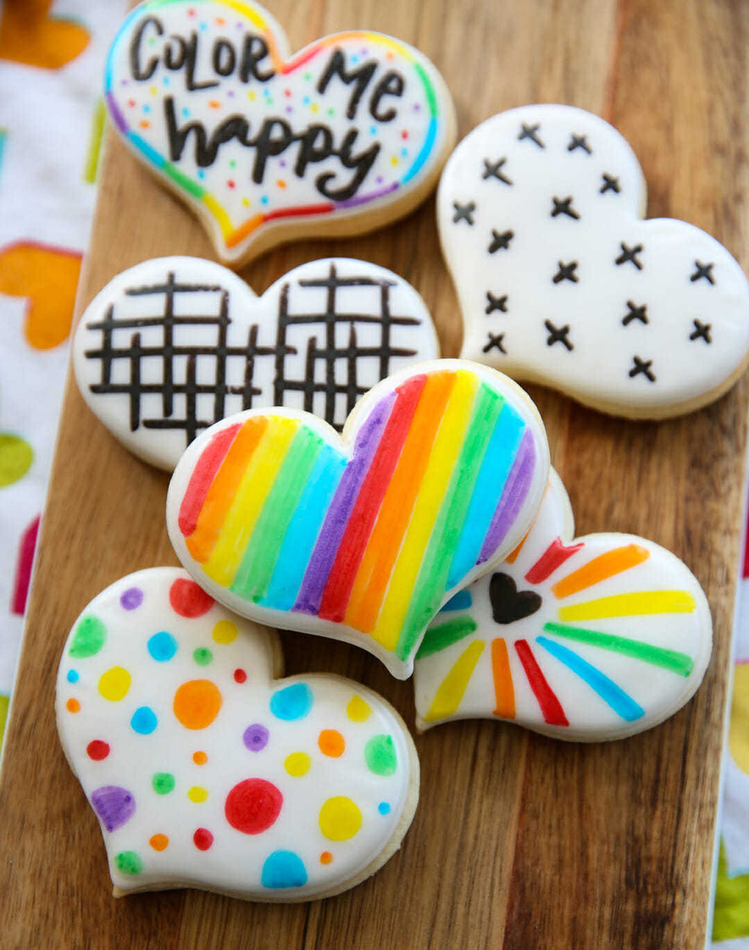 Rainbow Painted Sugar Cookies