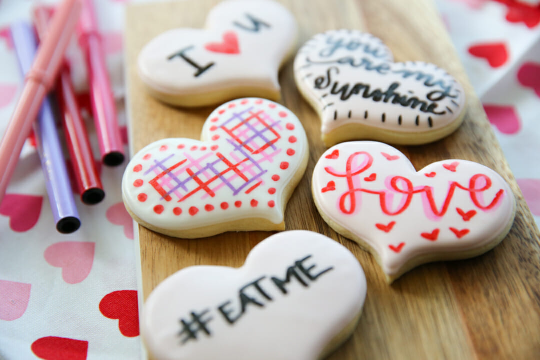 Custom Valentine Cookies