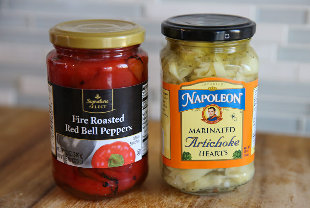 Roasted Red Pepper and Artichoke Hearts
