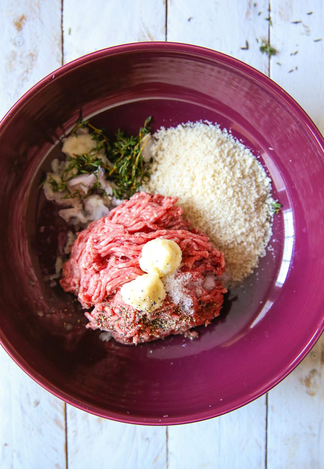meatloaf ingredients in bowl