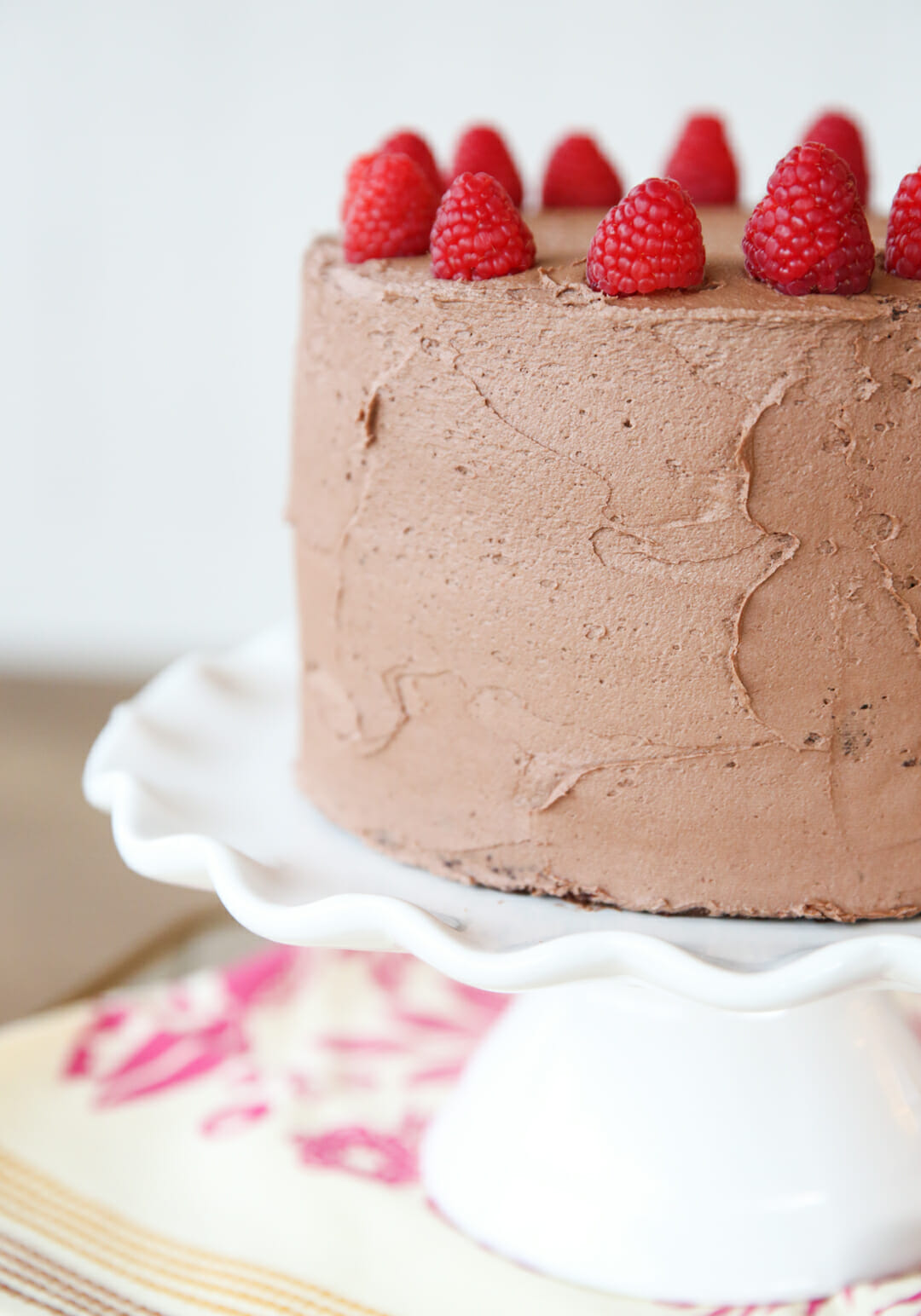 frosted raspberry layer cake