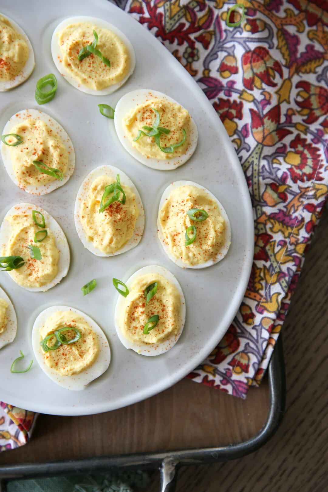 Deviled Eggs on Platter
