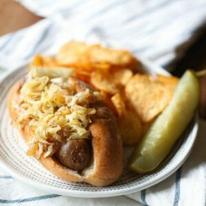 Bratwursts and Sauerkraut from Our Best Bites