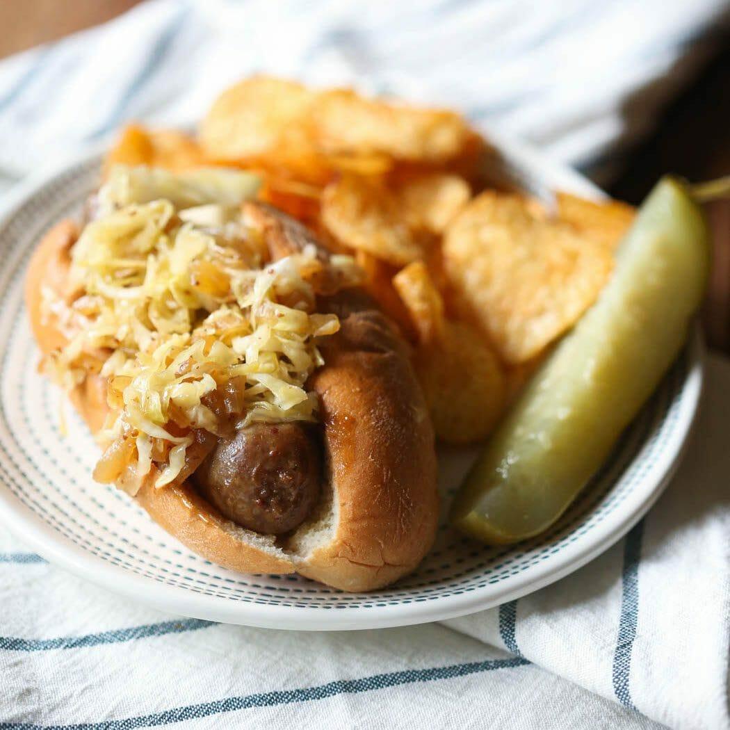 Bratwursts and Sauerkraut