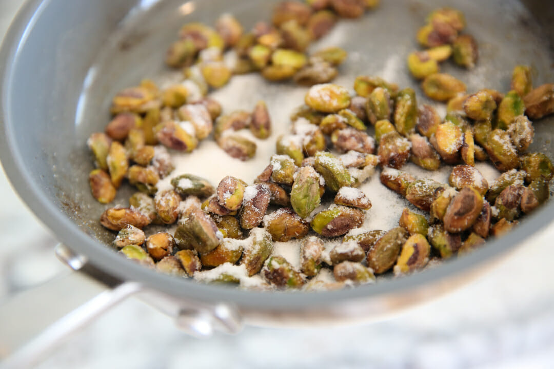 Candied Pistachios in sugar