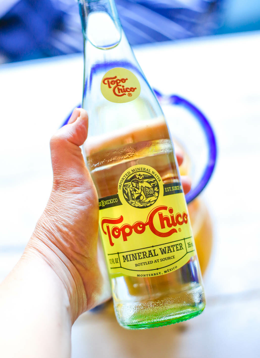Bottle of Topo Chico