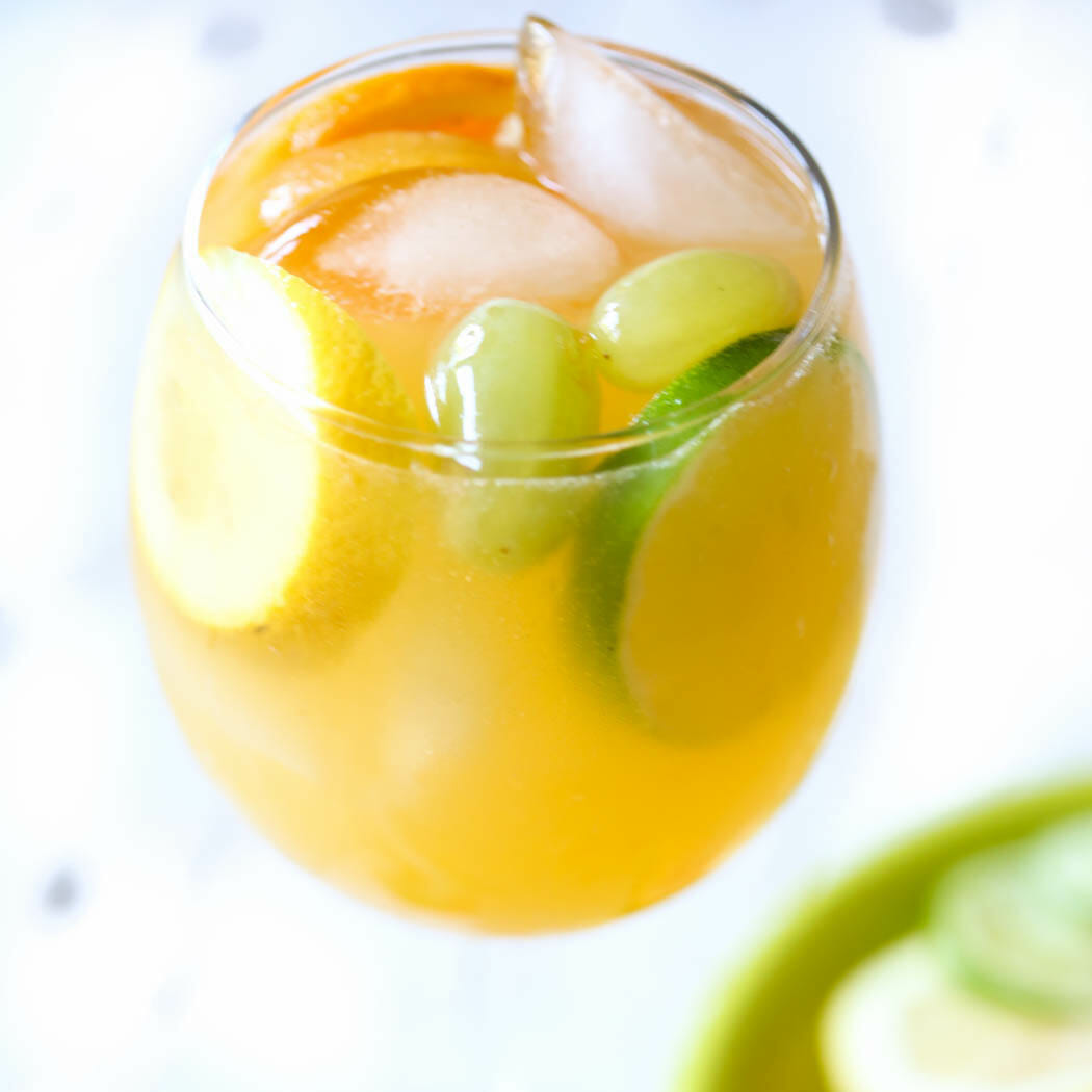 Virgin White Peach Sangria from Our Best Bites