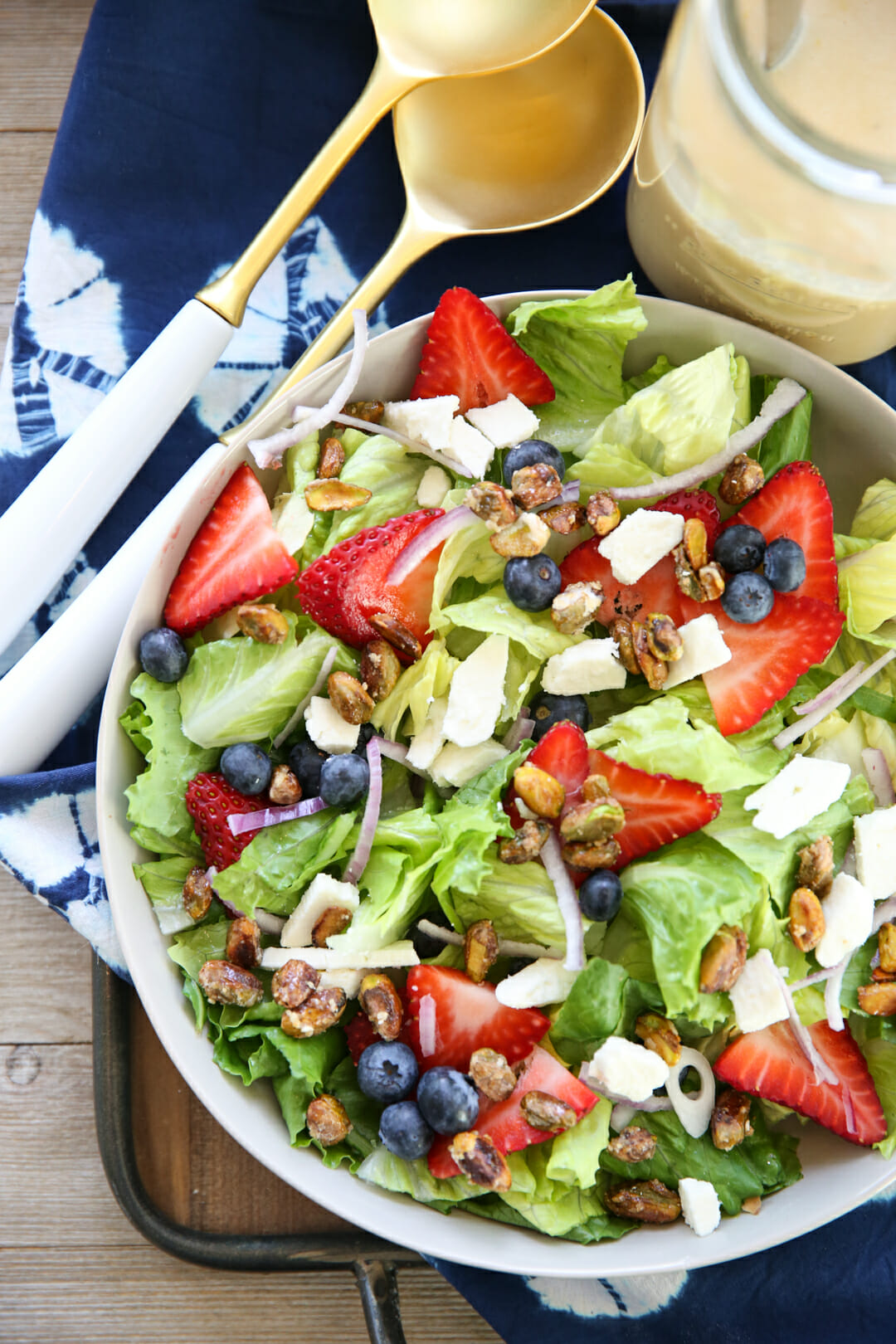 Honey Lemon Vinaigrette on Salad