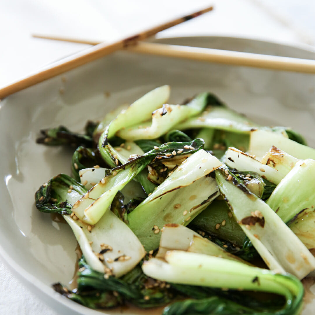 Grilled Honey-Sesame Bok Choy