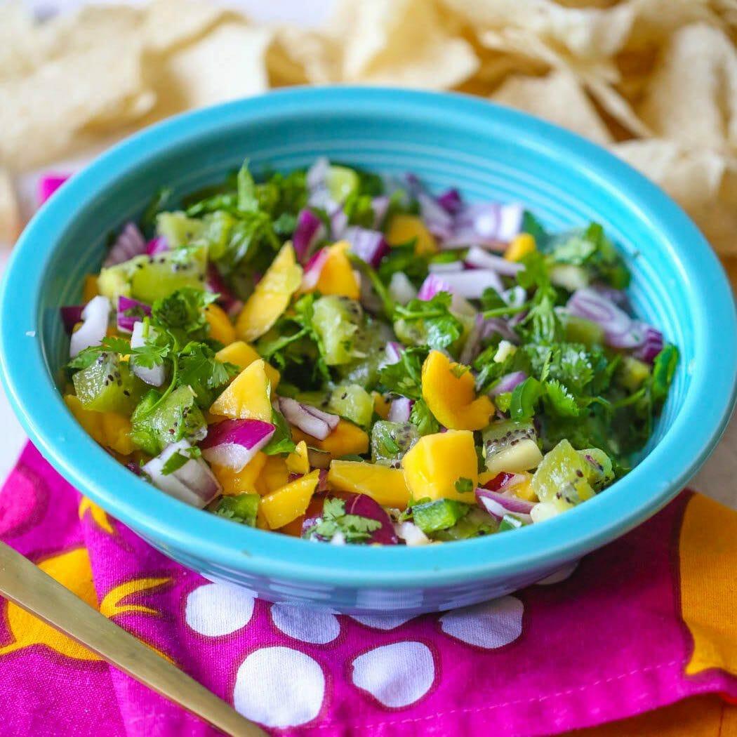 kiwi mango salsa from our best bites
