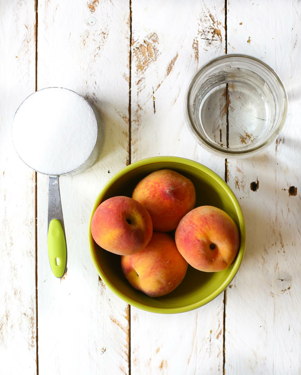 easy peach syrup ingredients