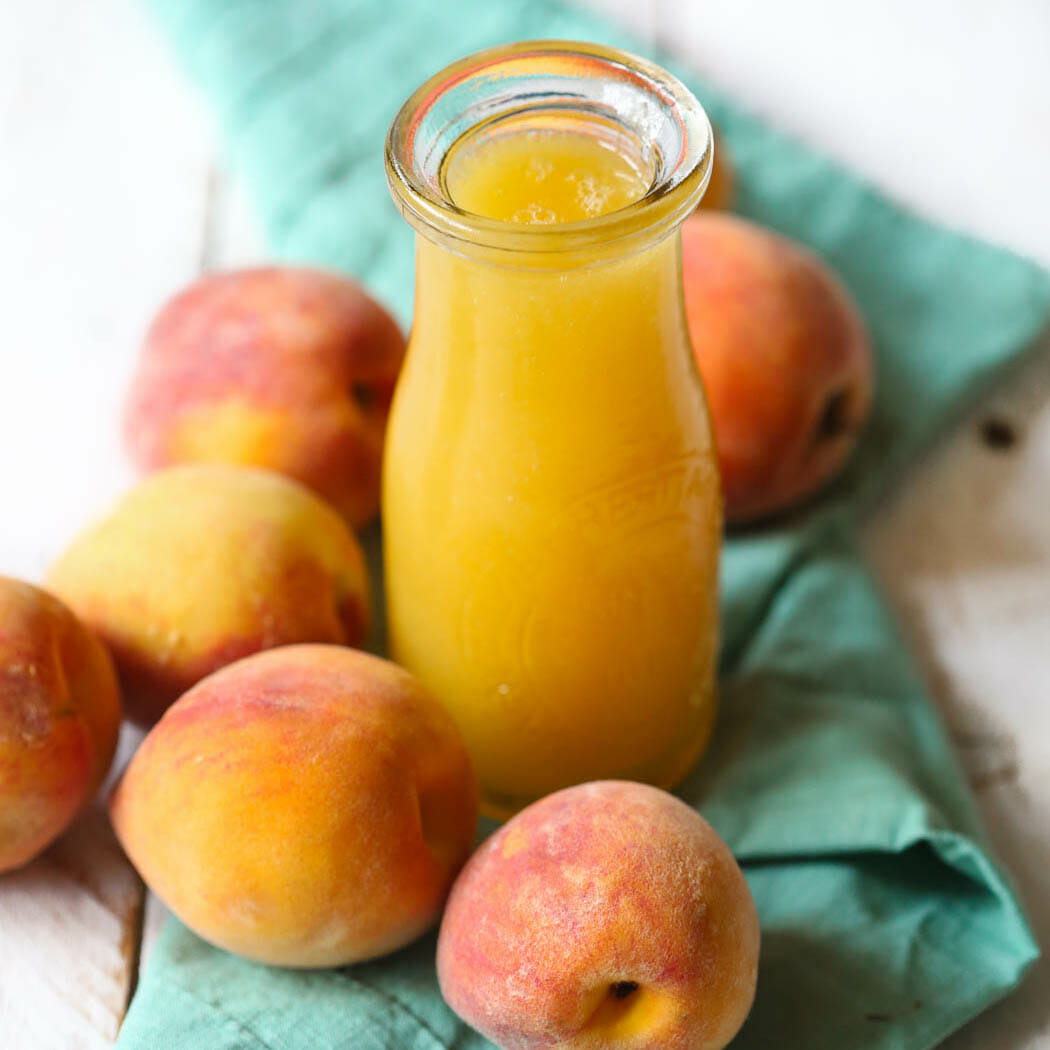 Easy Peach Syrup