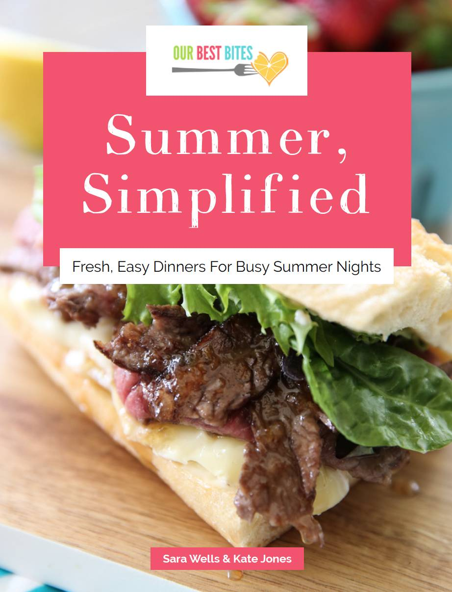Summer dinnertimes stressing you out? Summer, Simplified from Our Best Bites is here to help! We've planned 7 weeks of menus that include all brand-new 30-minutes-or-less recipes and you never have to turn on your oven!