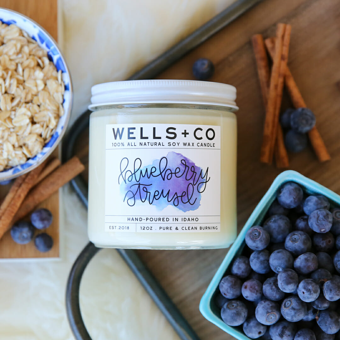Blueberry Streusel Soy Candle
