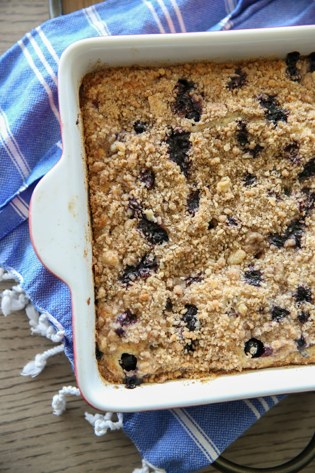 Blueberry Coffee Cake Baked