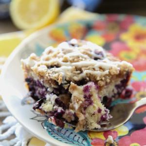Lemon-Blueberry Streusel Coffee Cake