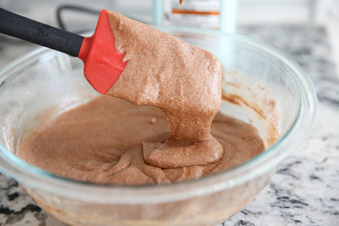 chocolate waffle cone batter