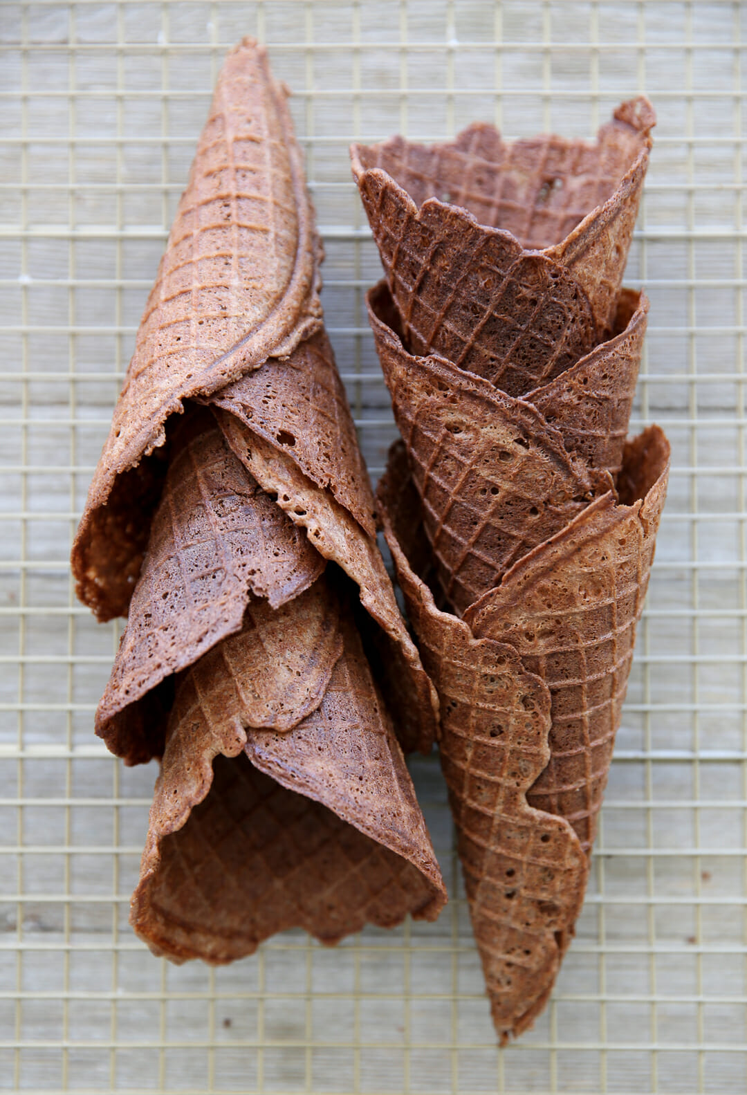 Homemade Waffle Cones Cooling