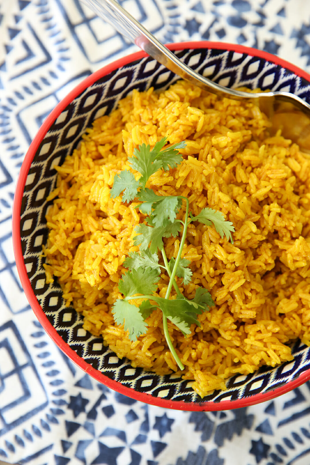 Turmeric Rice in Bowl