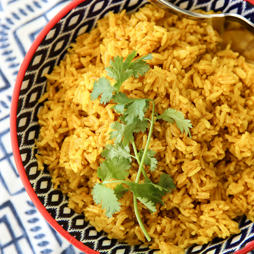 Indian Turmeric Rice