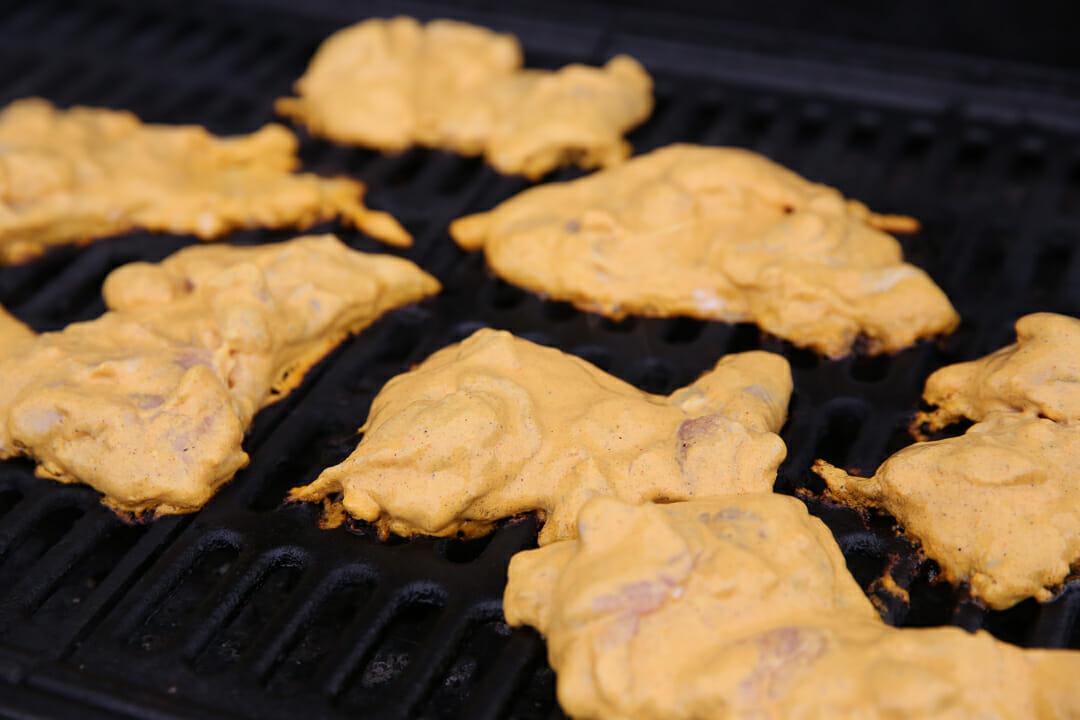 Grilling Tandoori Chicken