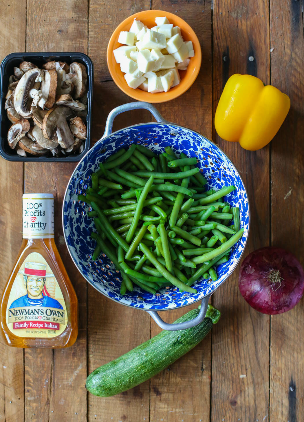 ingredients for marinated green bean salad from Our Best Bites
