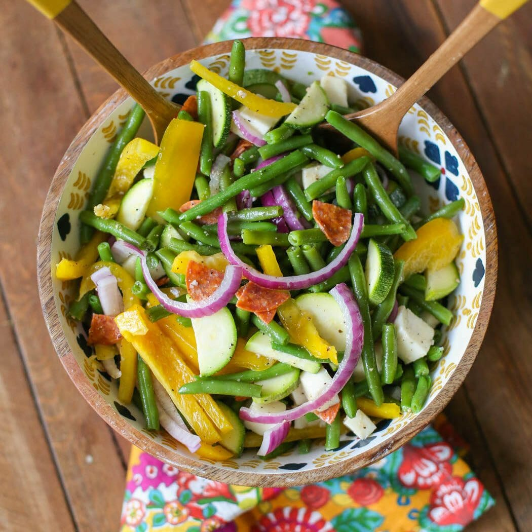 marinated green bean salad from Our Best Bites