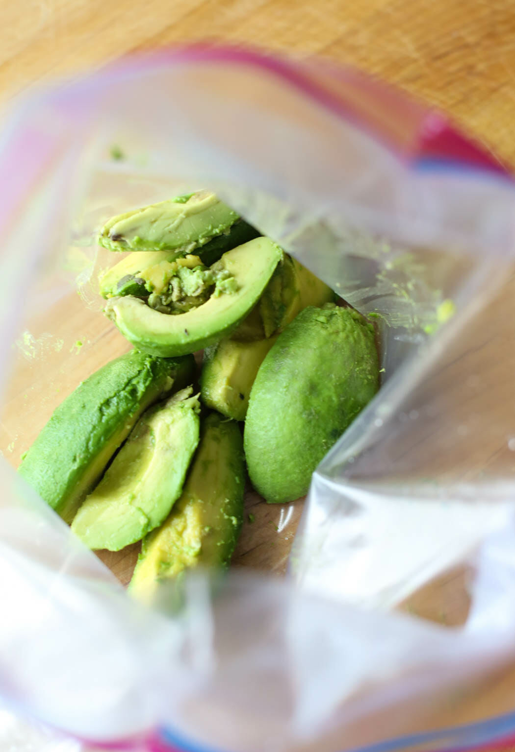 Avocados in Ziploc bag