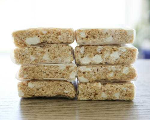 wrapped rice krispie treats