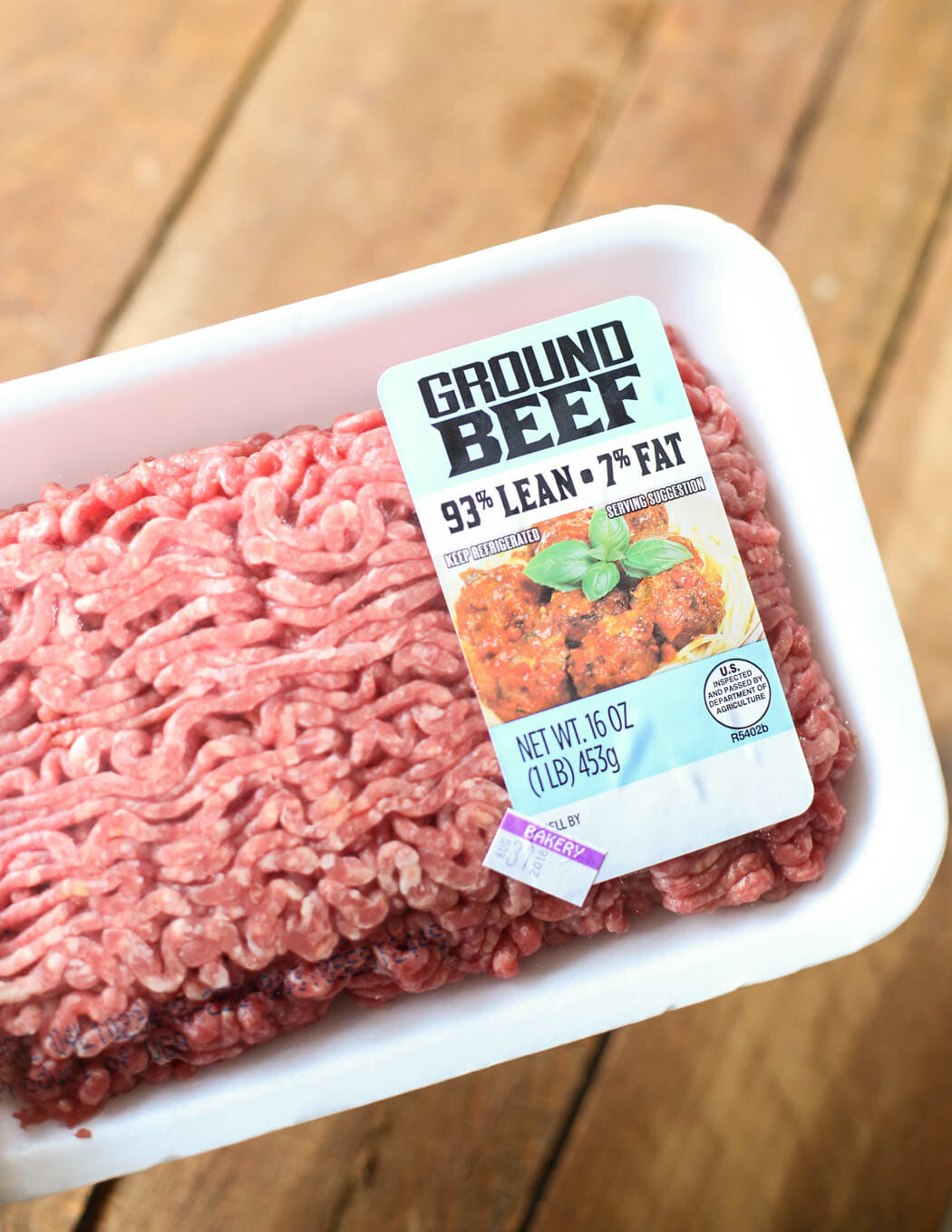 package of ground beef