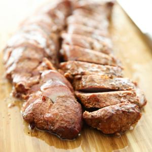 Honey-Glazed Smoked Pork Tenderloin