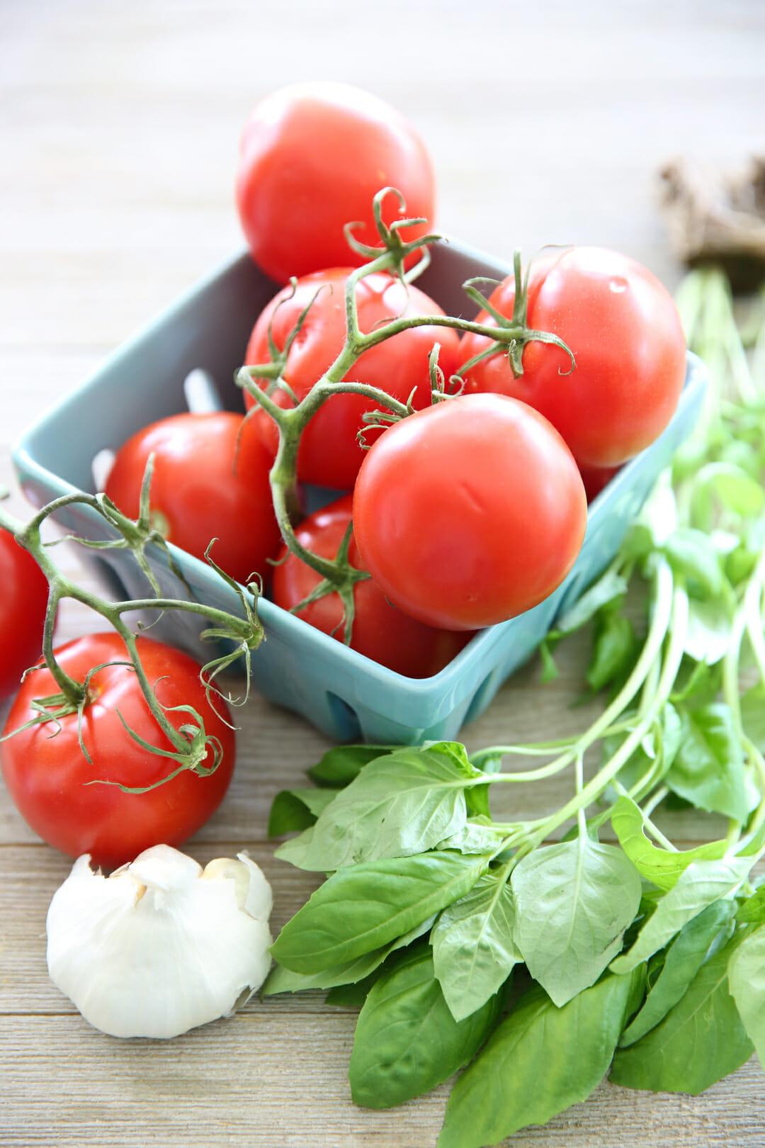 Tomato Basil and garlic