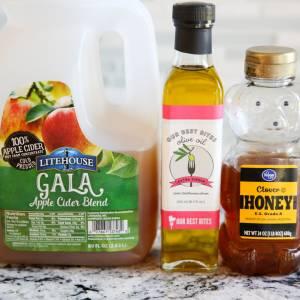 Ingredients for honey Cider salad dressing