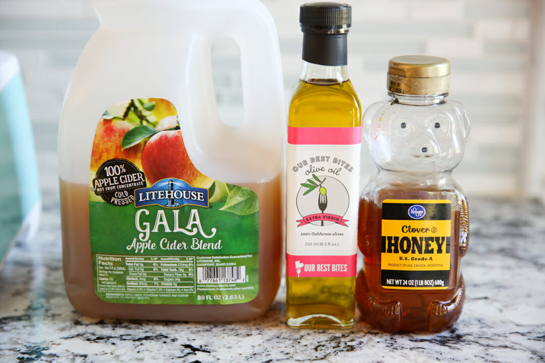 Ingredients for honey Cider salad dressing