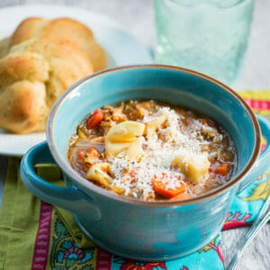 tortellini sausage soup from Our Best Bites